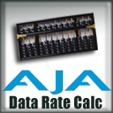AJA Data Rate Calculator 10.3.3