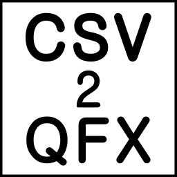 CSV2QFX