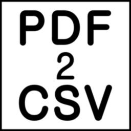 PDF2CSV