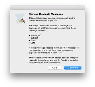 mac mail remove duplicates script